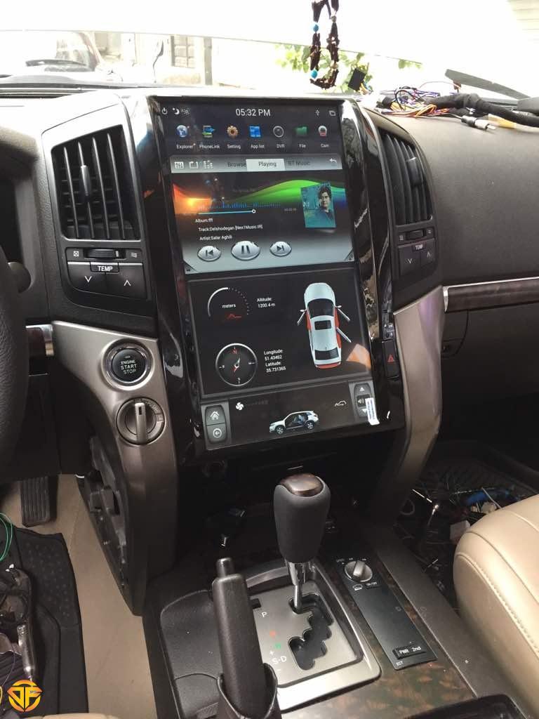 مولتی مدیا تسلایی اندروید خودروی تویوتا لندکروز
