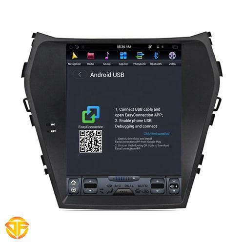 Car tesla multimedia for hyundai santafe ix45-1-min